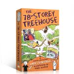 顺丰包邮 英文原版绘本The 78-Storey Treehouse 小屁孩树屋历险记 78层树屋 插图漫画章节故事书