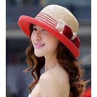 遮阳帽 女士夏天拉菲草草帽 大沿太阳帽沙滩帽