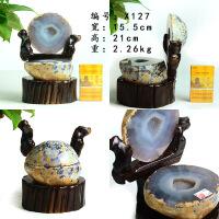 水晶玛瑙 聚宝盆 原石消磁紫晶洞玛瑙洞家居办公装饰摆件礼品