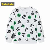 巴拉巴拉童装春秋2018新款儿童韩版圆领套头衫男童小童宝宝卫衣潮