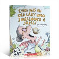 英文原版 老奶奶系列 There Was an Old Lady Who Swallowed a Shell 吞贝壳的