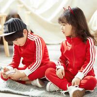 幼儿园园服春秋装 小学生班服 校服红色儿童运动服老师套装秋冬款