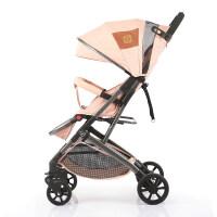 婴儿推车换向可坐可躺超轻便携折叠婴儿推车双向可坐可躺四轮减震婴儿车换向迷你口袋车