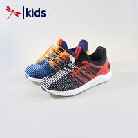 红蜻蜓童鞋男童中大童一体织潮流运动鞋