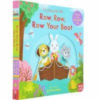 英文原版绘本 Sing Along With Me Row Row Row Your Boat 划船歌 0-3岁幼儿启