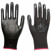 劳保手套N528工地建筑N518耐磨透气塑胶手套12双 M