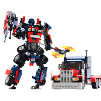 积木 儿童拼装变形玩具7金刚机器人汽车9男孩6-8岁10礼物