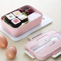 野炊/烧烤便携饭盒便当盒可微波炉加热 保温学生分格带盖韩国成人带餐盒1人