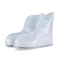雨鞋套防水雨天防滑防水鞋套男女防滑加厚耐磨防雨鞋套 加厚款白色