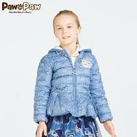 【到手价:225元】Pawinpaw宝英宝韩国小熊童装春季款女童羽绒服外套