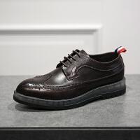 DAZED CONFUSED 欧美气垫雕花皮鞋英伦厚底低帮透气单鞋休闲鞋男鞋