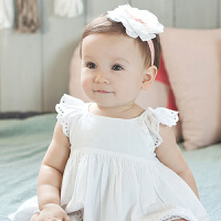 儿童发饰婴幼儿甜美花朵发带女童小宝宝头饰头花情人节礼物