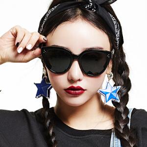 inmix音米时尚板材偏光镜 圆框复古墨镜 男女潮防紫外线太阳眼镜