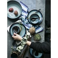 美式餐具套装窑变釉色釉陶瓷米饭碗
