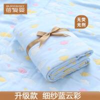 大尺寸纱布婴儿浴巾纯棉吸水新生儿宝宝洗澡浴巾儿童毛巾被