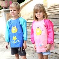围裙幼儿园学生绘画反穿衣 儿童画画衣宝宝理发美术罩衣中大童