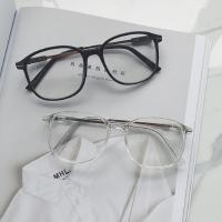 新款时尚复古情侣眼镜男青少年平光眼镜简约眼镜男女