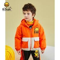 【2件25折:187.25元】B.duck小黄鸭童装男童棉服儿童加厚外套冬装2021新款宝宝棉衣棉袄BF5115923
