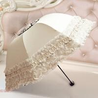 太阳伞蕾丝公主洋伞晴雨两用女神遮阳伞折叠韩版雨伞