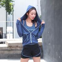 跑步外套女运动薄款速干宽松夏季健身外套套头瑜伽上衣外套锻炼服