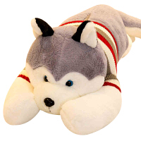 哈士奇布娃娃毛绒玩具狗狗可爱玩偶女孩床上抱枕长条枕二哈生