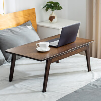 床上小桌子简约家用学生折叠桌懒人学习桌卧室电脑桌实木折叠书桌