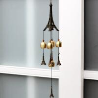 铜铃铛挂件 埃菲尔铁塔创意模型金属风铃挂饰门饰女生日礼物 铁塔5铃