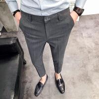 男士休闲裤潮男修身小脚西裤青年裤子男