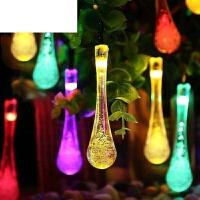 家用庭院彩灯欧美热销灯花园灯彩灯带太阳能灯串户外外露挂灯10米