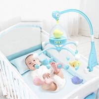 床铃音乐旋转婴儿0-3-6-12个月宝宝床挂摇铃女孩床头铃男孩