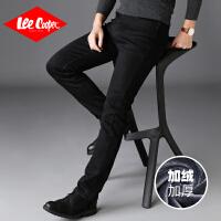 Lee Cooper【常规/加绒】秋冬时尚新款修身时尚商务小直筒牛仔裤男 LCGK202R