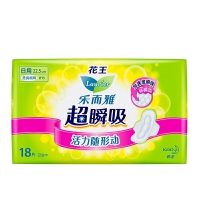 [当当自营] 花王 乐而雅 超瞬吸 纤巧日用护翼型卫生巾 22.5cm 18片