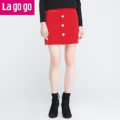 La·go·go 拉谷谷 FDBB13G535 包臀裙半身裙 29.9元