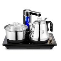全自动上水壶电热水壶304不锈钢烧水壶抽水茶炉茶具套装