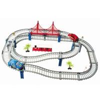 维莱 电动玩具车轨道车极速轨道电动益智玩具 多层轨道赛车 D款