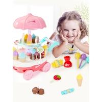 儿童男女孩过家家玩具手推冰淇淋车3-6岁公主生日礼物套装