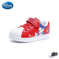 【99元任选2双】迪士尼Disney童鞋18秋季新款贝壳头板鞋俏皮米奇儿童运动鞋男童户外休闲鞋 (5-10岁可选) D