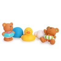 德国Hape宝宝洗澡玩具小鸭子宝宝戏水喷水玩具儿童浴室戏水玩具