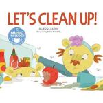 【中商原版】学会打扫 英文原版 LET'S CLEAN UP! 书+CD 音乐绘本 3-8岁
