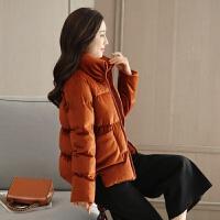 女冬短款韩版棉衣面包服新款宽松加厚原宿丝绒羽绒棉袄外套潮