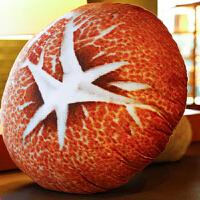 礼物毛绒蔬菜靠枕3d蘑菇抱枕布娃娃花菇可爱毛绒靠垫