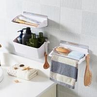 卫生间置物架壁挂浴室收纳架子洗漱台洗手间厕所吸盘吸壁式免打孔