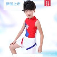 足球啦啦队服装女小学生儿童拉拉队服装啦啦操演出服健美操
