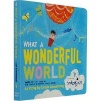 英文原版纸板书 What a Wonderful World 美妙的世界 儿童想象力培养 启蒙纸板书宝宝认知 完美世界