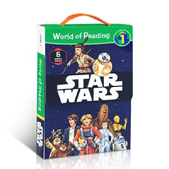 英文原版绘本 Star Wars World of Reading Level 1 星球大战Disney 迪士尼儿童故事绘本图画书 分级阅读读本6册盒装