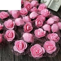 3.5厘米整包(500朵)仿真带纱泡沫PE玫瑰花朵手工装饰花假花小花头