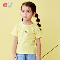 贝贝怡童装儿童短袖t恤夏季女童短袖上衣韩版潮洋气上衣