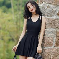 简爱性感泳衣女士大码连体裙式显瘦遮肚韩国大胸小胸钢托聚拢泳装