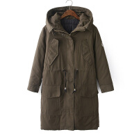 韩国高端品质大衣军工装羽绒服中长全棉BF风保暖外套yrf厚