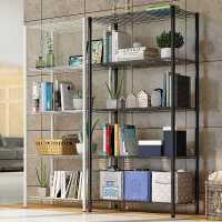 厨房置物架落地多层用品大全收纳架铁艺书架不锈钢储物微波炉架子